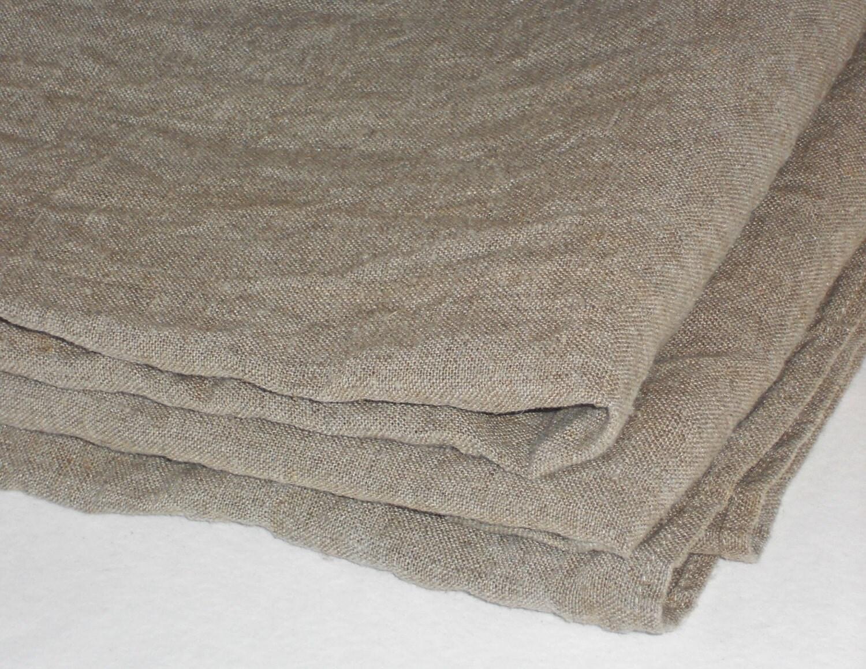 nappe lin toile de jute ronde taupe lav linge de table. Black Bedroom Furniture Sets. Home Design Ideas