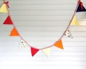 Party Brights and Circus Sights:  Fabric Banner/Bunting