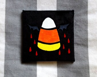 SALE - Candy Corn Bat Magnet