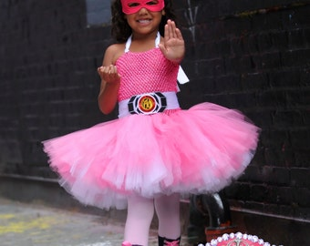Power Rangers inspired costume- tutu dress for birthdays- Power Ranger dress -Any Ranger available      Perfect for halloween!