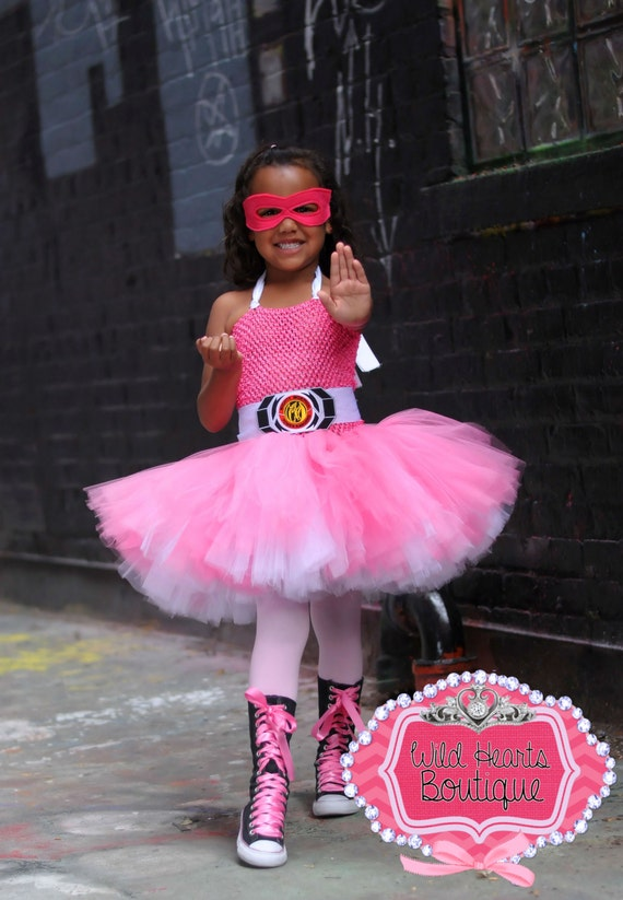 Power Rangers Inspired Costume Tutu Dress For Birthdays