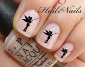 Nail Art Water Transfer Decal Tinkerbell Fairy Want Hearts Stickers Y097