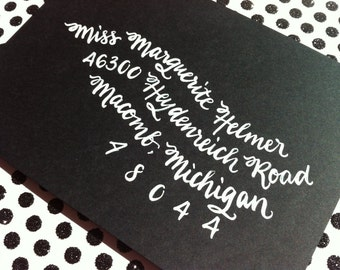 MARGUERITE : Custom Wedding Calligraphy Envelope Addressing