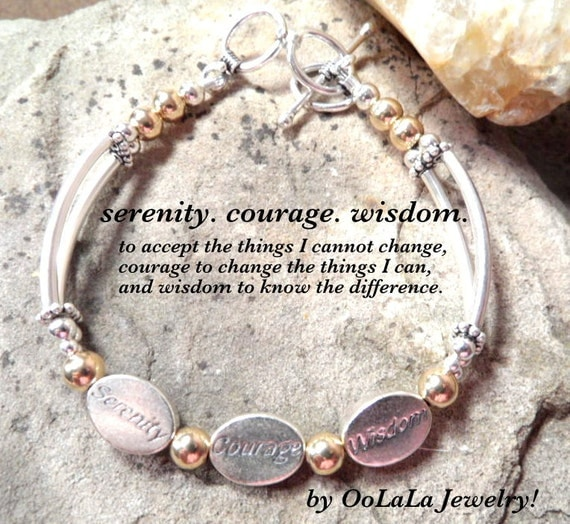 Serenity Prayer Bracelet, Serenity Courage Wisdom, Serenity Prayer Jewelry, Prayer Bracelet, Prayer Jewelry, Wish Bracelet, Courage Jewelry
