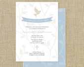 Printable Personalized Baptism Invitation
