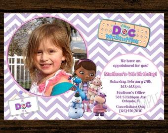 Custom Doc McStuffins Birthday Party Invitations - DIY Printable File