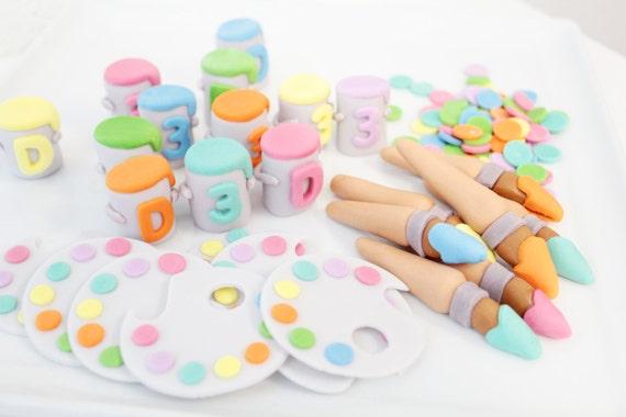Art Party Cupcake Toppers Party Cupcake Toppers as