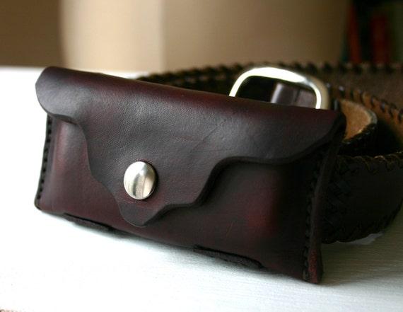 Pocket Knife Case Brown Leather Pocket Knife Holder For Belt