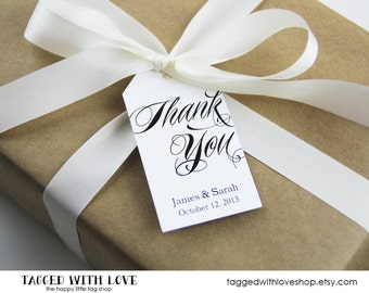 Thank You Tag - Wedding Favor Tags - Custom Thank You Tags - Party Favor Tags - Bridal Shower Tags - Product Thank You Tags - LARGE