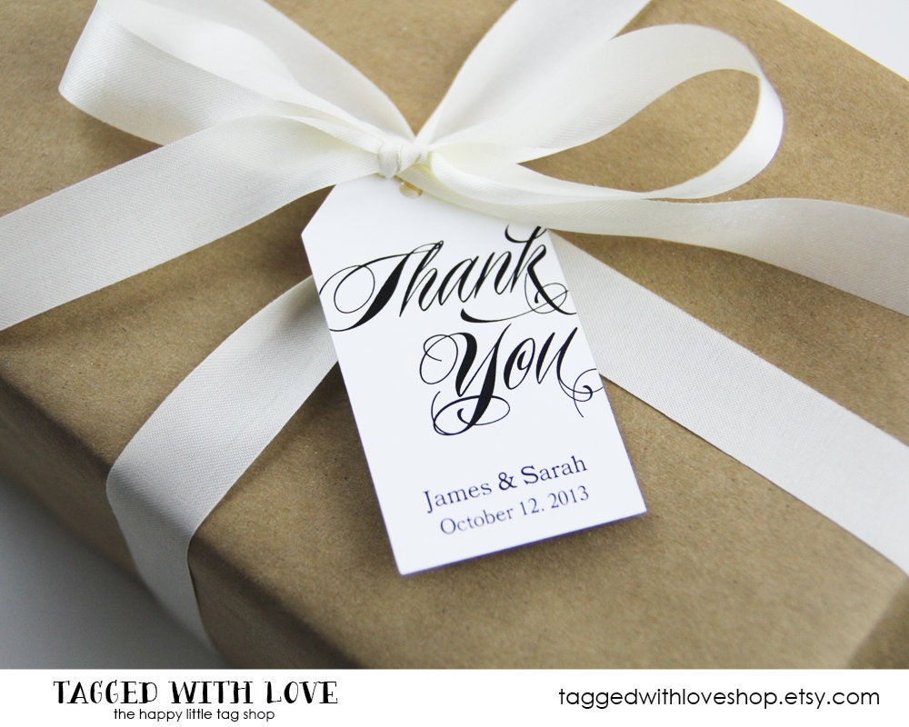 Thank You Tag Wedding Favor Tags Custom Thank You Tags