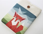 """Fox Laptop Case, New Macbook 12"""" Laptop Sleeve, woodland fox, Laptop cover, front pocket, Padded sleeve, protective cover, computer case"""