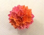Pink and Orange Paper Centerpiece
