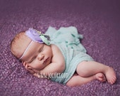Mint Green Stretch Knit Wrap, newborn baby layer photography prop