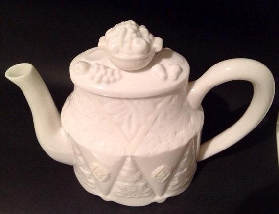 items similar to lenoxteapot butler 39 s pantry porcelain on etsy