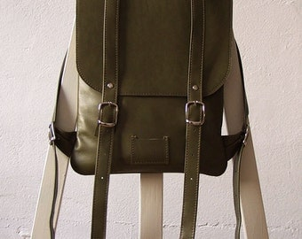 Dark-olive green leather backpack rucksack / To order / Leather backpack / Leather rucksack / Womens backpack / Christmas Gift