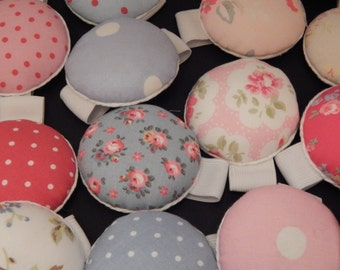 Hand Made Wrist Pin Cushions, Cath Kidston Material, Over 20 Choices Of Material, Gorgeous!