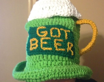 St. Patrick's Day Beer Mug Hat