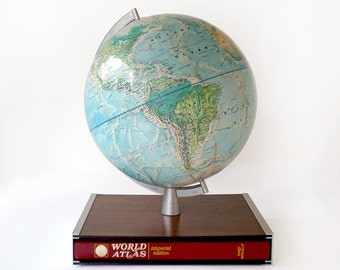 Vintage Rand McNally Globe and World Atlas