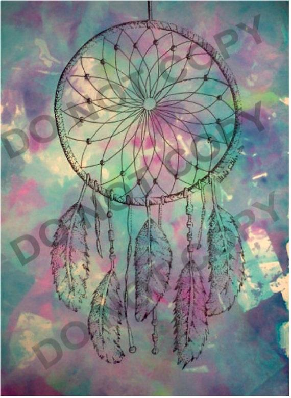 Tie dye acchiappasogni stampa di disegno for Acchiappasogni disegno
