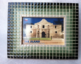 Green Graduated Mosaic Picture Frame