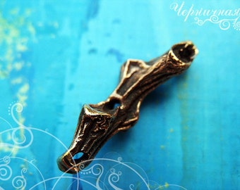"Bronze spacer ""Sprig"" 1585(2). Twig, branch, tree"