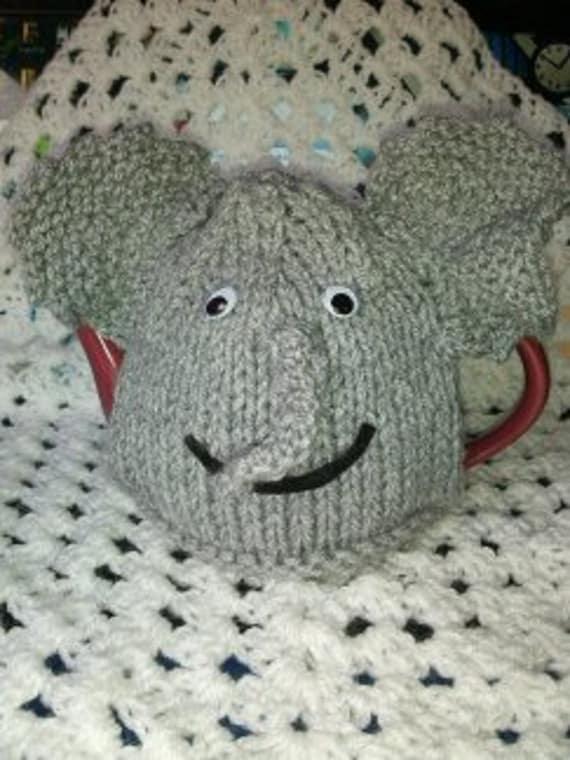 KNITTING PATTERN Elephant COSY Tea Cosy Hand Kniting Pattern