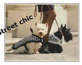 Dog Coat Knitting Pattern for Westie Dog - PDF