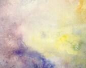 astral nursery - original watercolor