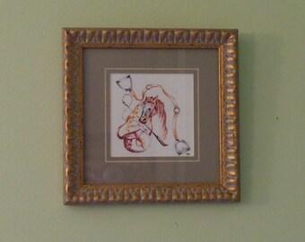 "Equestrian ""Equipment"" Framed Print, EquineFramed  Art, Watercolor Horse Print Framed"