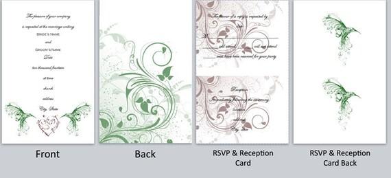 Hummingbird Wedding Invitations: Items Similar To Hummingbird Wedding Invitation Template