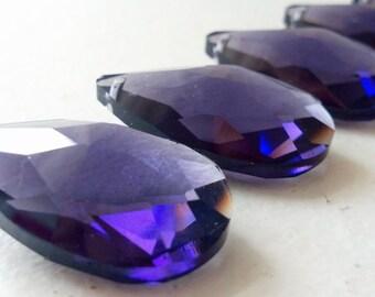 5 Teardrop Chandelier Crystals Violet Purple 38mm Prisms Almond Pendant