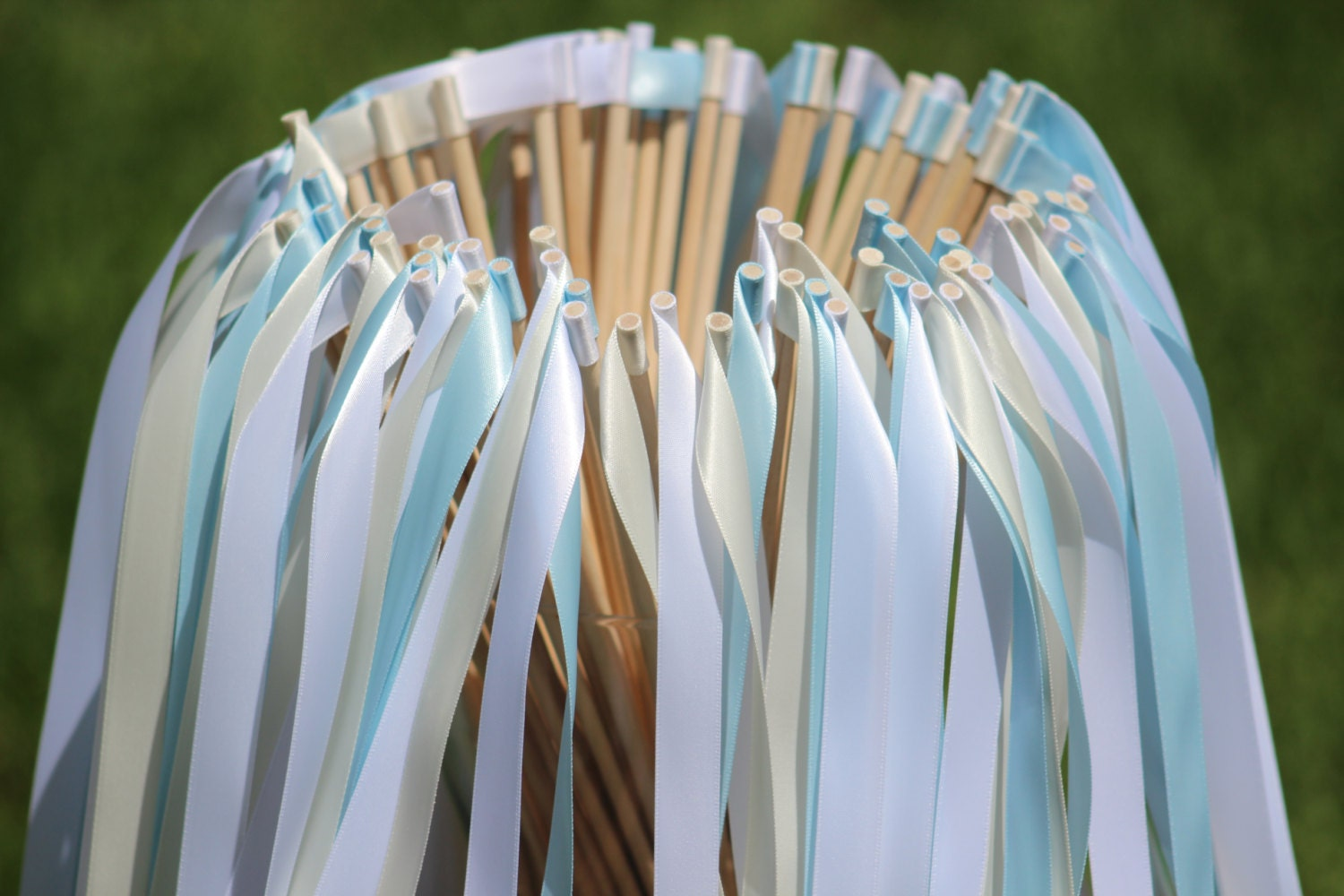 150 wedding ribbon wands party ribbon streamers party for Wedding wands
