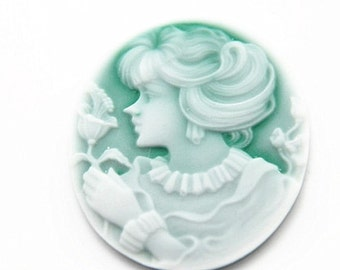 12 pcs of vintage resin cameo 42x50mm-0427