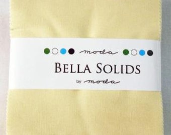 Bella Solids Charm Pack, Snow, 9900PP-11