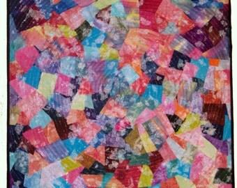 Confetti III ~ Fiber Wall Art - Fibre Wall Art ~ Textile Art ~ Quilt Art ~ Art Quilt ~ Framed Wall Hanging ~ Original OOAK
