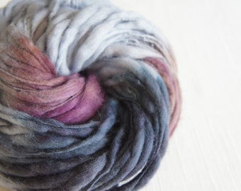SALE: Handspun Yarn, Thick and Thin Yarn, Merino Art Yarn, knitting supplies crochet supplies, thick n thin
