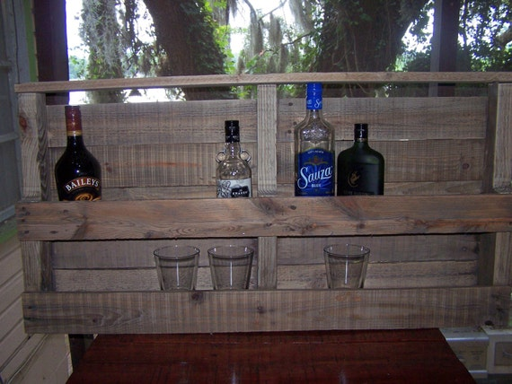 wall hanging liquor bar shelf made from recycled reclaimed. Black Bedroom Furniture Sets. Home Design Ideas