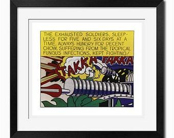 Takka Takka Roy Lichtenstein Pop Art Poster Print