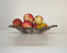 Fruit Bowl: Superb Art Nouveau Silver Plated Fruit Bowl, Metal Decorative Bowl, Wedding Centerpiece, Home Decor, Marked Pairpoint MFG. Co