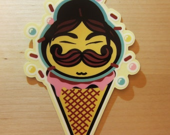 Pringle Ice Cream Transparent Sticker, 100% Waterproof Vinyl Transparent Sticker, Pop Culture Transparent Sticker