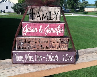 Wedding Gift Ideas Blended Family : ... family parents kids special saying housewarming blended family wedding