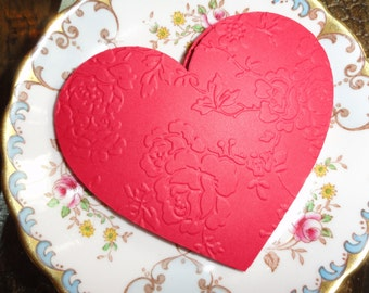 Victorian Lace Valentine Heart Die cuts Set of 12