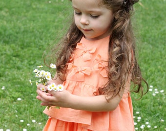 Peach dresses for girls