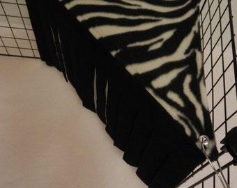 Peek-a-Boo Corner.. Zebra on black..
