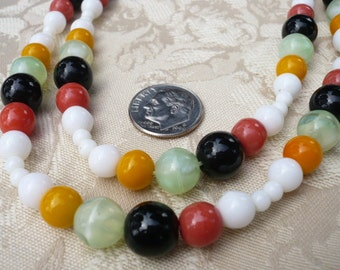 "Vintage West German bead necklace.  41"" long,"