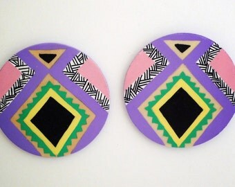 Azzy Hand Painted Earrings