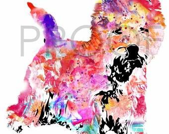 Jillian the Westie || West Highland Terrier || Dog Art || Abstract || Dog Print