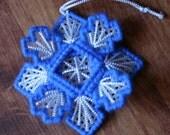 Snowflake Ornament,  Christmas Ornament, Christmas Tree Decoration, Plastic Christmas Ornament,