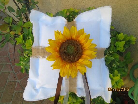 Sunflower Ring Bearer Pillow