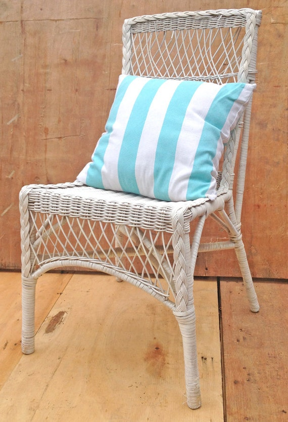 Upcycled White Cane Chair Or Bedside Table Use By